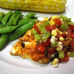 Curry in a Hurry Grilled Chicken With Salsa and Sugar Snap Peas recipe