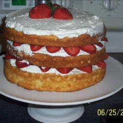 English North Country Strawberries and Cream Courting Cake recipe
