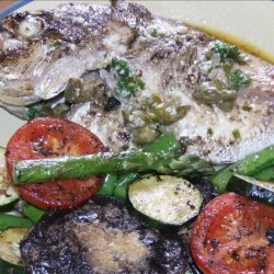 Snapper Fillets With Herb and Caper Butter recipe