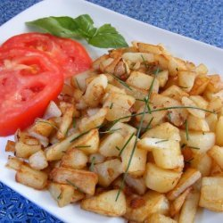 Home Fries With Onions and Chives recipe