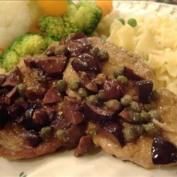 Pork Medallions With Olive and Caper Sauce recipe