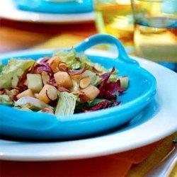 Escarole Salad With Melons and Crispy Prosciutto recipe