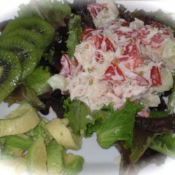 Caribbean Crabmeat Salad With Creamy Gingered Dressing recipe