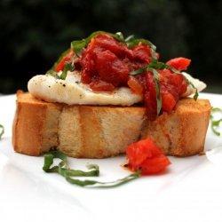 Roasted Fish Bruschetta recipe
