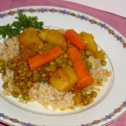 Pea Curry With Carrots and Potatoes recipe
