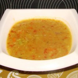 Roasted Red Pepper and Lentil Soup recipe