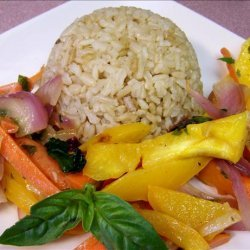 Coconut Green Curry Brown Rice recipe