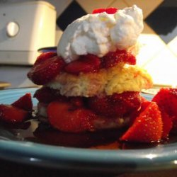 Strawberry Shortcake With Sour Cream Biscuits recipe