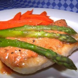 Chicken With Carrots and Asparagus recipe