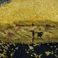 Kalasouna - Cheese and Onion Pie recipe