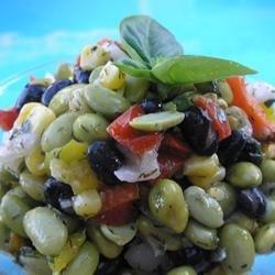 Quick Edamame Salad recipe