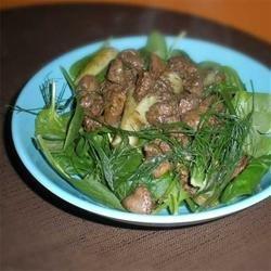 Hot Chicken Liver and Fennel Salad recipe