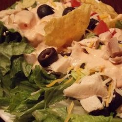 Layered and Tossed Spicy Chicken Taco Salad recipe