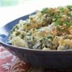 Potato and Mustard Greens Salad recipe