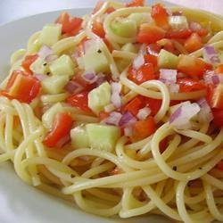 Light Spaghetti Salad recipe