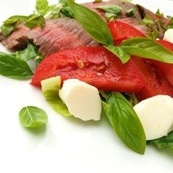 Caprese Salad With Grilled Flank Steak recipe