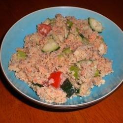 Salmon Cucumber Couscous Salad recipe