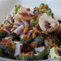 Mushroom Broccoli Salad recipe