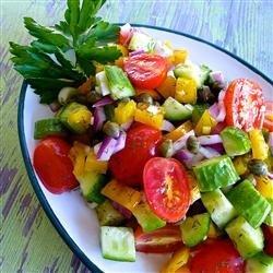 Cucumber Salad with Dill Vinaigrette recipe