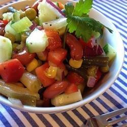 Grandma's Sweet and Tangy Bean Salad recipe