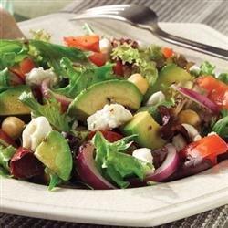 Mediterranean Salad with Feta Cheese recipe