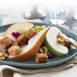 Fall Harvest Fruit Salad with Whole Grain Croutons recipe