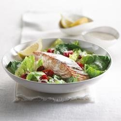 Warm Salmon and Grape Tomato Salad recipe