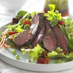 Beef Salad with Ginger Soy Dressing recipe