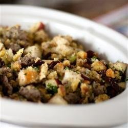 Awesome Sausage, Apple and Cranberry Stuffing recipe
