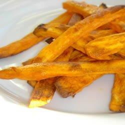 Spicy Baked Sweet Potato Fries recipe