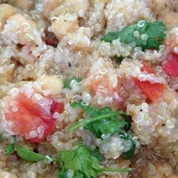 Quinoa with Chickpeas and Tomatoes recipe