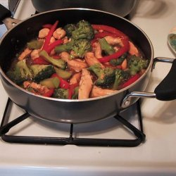 Stir Fry Chicken and Broccoli With Peanuts recipe