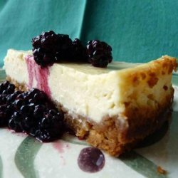 Cheesecake With Minted Blackberries recipe