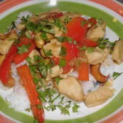 Stir Fried Chicken With Cashews recipe