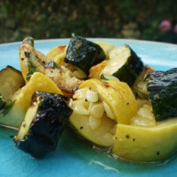Grilled and Marinated Zucchini and Yellow Squash Recipe recipe