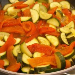 Sauteed Zucchini and Roasted Red Peppers recipe