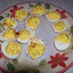 The Bestest Deviled Eggs Ever!! recipe