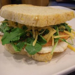 Fried Egg Sandwiches With Pancetta and Arugula recipe
