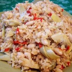 Vegetarian Lemon Rice With Artichokes and Chickpeas recipe