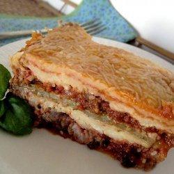 Easy Ricotta Eggplant Mozzarella Marinara Bake recipe