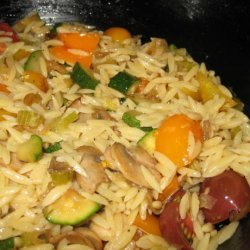 Orzo Pasta With Sauteed Vegetables recipe