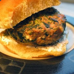 Spinach Feta Lamb Burgers recipe