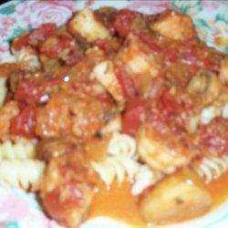 Seafood Saute with Linguinne recipe
