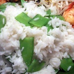 Steamed Ginger Rice with Snow Peas recipe