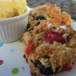 Tyler Florence's Berry Scones With Orange Honey Butter recipe
