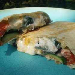 Almost Like Pollo Pronto's Roasted Veggie Wrap recipe