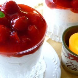 Danish Christmas Rice Pudding With Almonds and Warm Cherry Sauce recipe