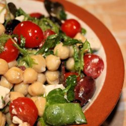 Chickpea, Feta, and Olive Salad recipe