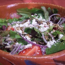 Sherried Greens With Fruit and Blue Cheese recipe