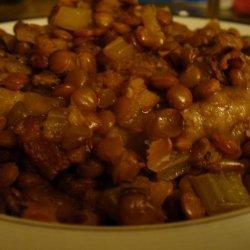 Lamb With Braised Lentils recipe